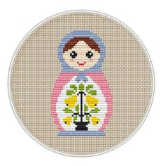Russian Doll cross stitch pattern Instant by MagicCrossStitch