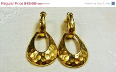 25  OFF SALE Vintage Circle Jewelry Goldette Gold by EtagereLLC, $9.00