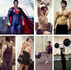 Henry Cavill working out for MOS! Oh someone please give me a paper bag.. i cant breathe!