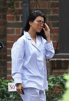Pj party! The low key bash saw Kourtney and her sisters gather for a spot of camping - indoors