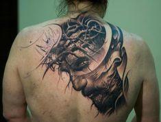 Male Tattoo Ideas Jesus On Back