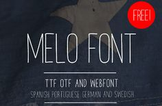 Melo free handmade font