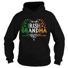 Get yours cool IRISH GRANDMA BEST GIFT SHIRT - St Patrick's Day Gifts Shirts & Hoodies.  Irish Grandma Best Gift Shirt #gift, #idea, #photo, #image, #hoodie, #shirt, #christmas