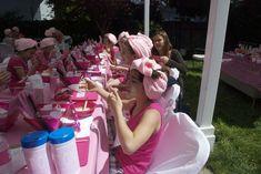 Mini Pink Pajama party | CatchMyParty.com