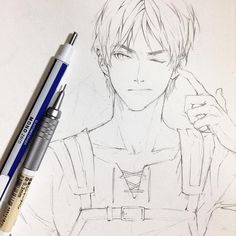 Eren x Levi — artbyshinji: Eren #イラスト #エレン #erenjaeger #snk...