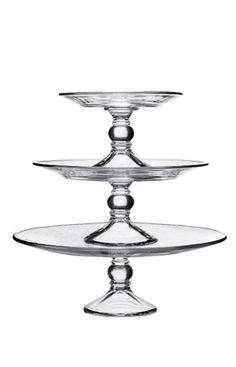 Love the sweeter things in life? Be sure to add a tiered cake stand to your registry! Display desserts and hors d'oeuvres with an elegant flair at your next soirée and watch them go like hot cakes.