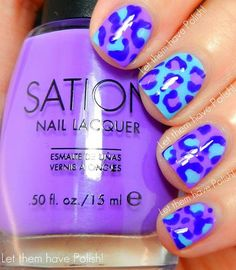 Purple/Blue Cheetah Print