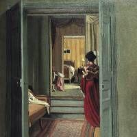 Fèlix Vallotton's 'Intérieur avec femme en rouge de dos' (1903)  | KUNSTHAUS ZÜRICH; © 2013 KUNSTHAUS ZÜRICH. ALL RIGHTS RESERVED.