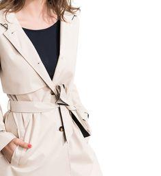 Trench long Cartagena Caroll pour Femme Beige, Coat, Jackets, Fashion, Cartagena, Down Jackets, Moda, Sewing Coat, Fashion Styles