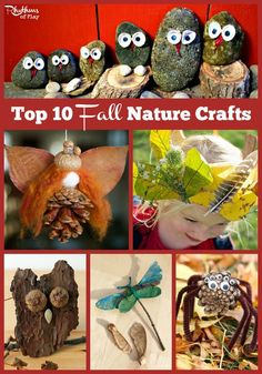 Top 10 Fall Nature Crafts - Fall is one of the best times of year to make nature crafts. You will find various levels of difficulty here, but most of these fall nature crafts can easily be made by kids of all ages.