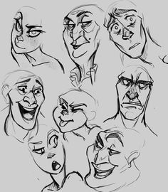 How to draw disney like style | different types of faces