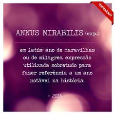 em latim: ano de maravilhas ou de milagres. expressão utilizada sobretudo para fazer referência a um ano notável na história.