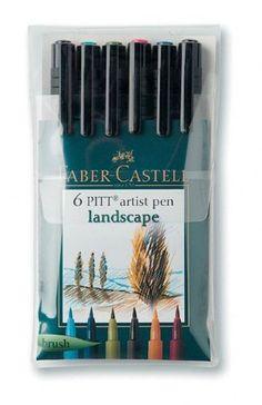FABER CASTELL Artiste /& Craft Marqueurs-Lot de 10 Croquis Stylo Clip