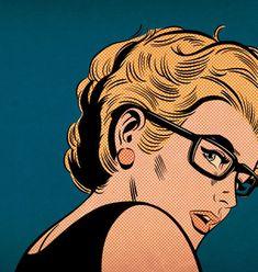 Joe McDermott - Girl With Red Earring (Hipster Edition) / http://www.joemcdermottillo.com #illustration #print