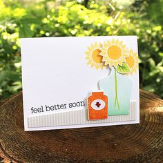 Feel Better Soon Card by Lizzie Jones for Papertrey Ink (August 2017)