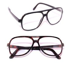 Aviator Men's Clear Lens Eye Glasses Medium brown or black Frame Nerd Hipster #Unbranded #Square