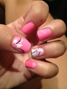 Flower nail art by Savanna | See more at http://www.nailsss.com/colorful-nail-designs/2/