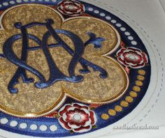 Goldwork & Silk Embroidery: Medallion Project by marycorbet, via Flickr
