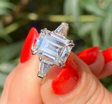 (Want to add A personal touch to this piece? Ring Resizing All Ring Size Available. Anything under the sun that catches your fancy, we will give it a try :). Emerald Cut Engagement, Wedding Engagement, Wedding Rings, Engagement Rings, Luxury Jewelry, Jewelry Shop, Unique Jewelry, 3 Stone Rings, White Gold Diamonds