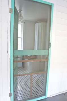 Painted Screen Door At, Guest My Nest: Dutton-Waller Cottage- Tybee Island, Georgia | The Lettered Cottage