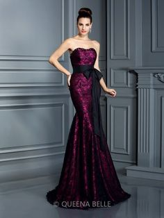 Trumpet/Mermaid Sweetheart Sleeveless Sash/Ribbon/Belt Sweep/Brush Train Satin Dresses - Evening Dresses - Occasion Dresses - QueenaBelle.com