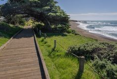 Moonstone Beach Boardwalk in Cambria ~ June, 2016.  Photo courtesy of the Cambria Inns Collection Facebook page.