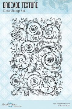 Blue Fern Studios - Clear Stamp - Brocade Texture,$9.99