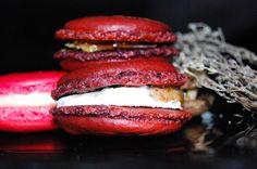Macaron salé chèvre, figue & thym