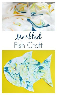 Marbled Fish Craft and Sensory Art for Preschoolers