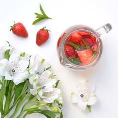 Strawberry and mint infused water. Image via: https://www.pinterest.com/pin/454371049881870631/