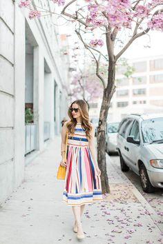 Striped Kate Spade dress