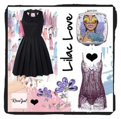 """""""Lilac valentine love"""" by beanpod ❤ liked on Polyvore featuring Brika"""