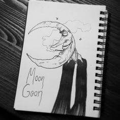 Day 7 - #moongoon . . #seasonofthebadguysclub2 #inktober #inktober2017 #lowbrowart #lowbrowwolfpack #lifeformdrawing #lifeformdrawingclub #popsurrealism #ink #tattoo #art #illustration #sketchbook #hamburgart #moon #deathmetalart