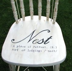 I'm definitely doing this for a chair for my room...<3 asdfghjkl;