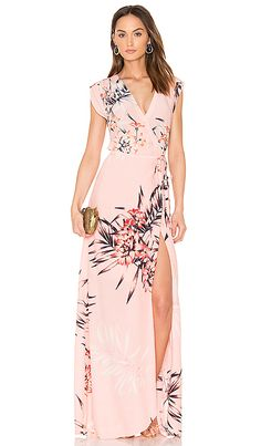 Guest of Wedding Dress Printed Floral Maxi Dress