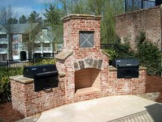 Judy, PERFECT! Fireplace and grill together! Brick as in our house, accented with same stone.