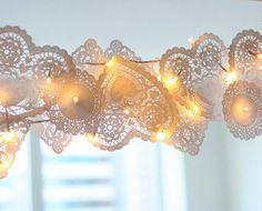 lace heart lanterns