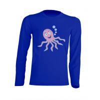 Camiseta Manga Larga Pulpo Azul Royal