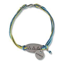 Delta Delta Delta Sorority Sisters Bracelet $11.95 #Greek #Sorority #Accessories #DeltaDeltaDelta #TriDelta #Sisters #Bracelet