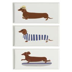 Sausage dog style.