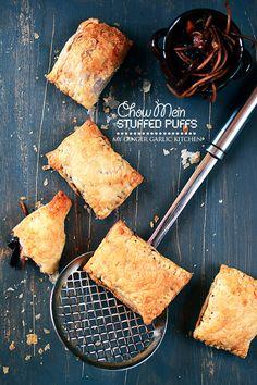 Chow Mein Stuffed Puffs - My Ginger Garlic Kitchen
