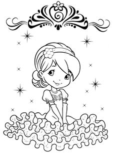 strawberry shortcake coloring page az coloring pages