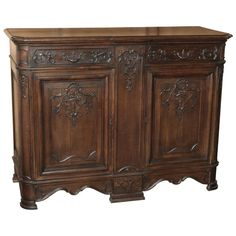 Vintage French Louis XIV Oak Buffet   From a unique collection of antique and modern buffets at https://www.1stdibs.com/furniture/storage-case-pieces/buffets/