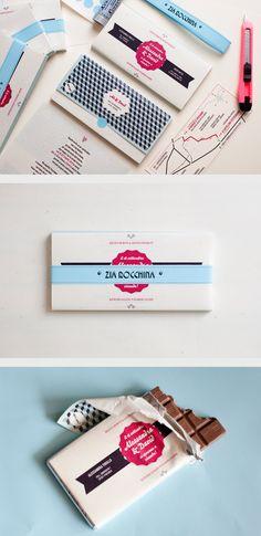 chocolate bar wedding invitations