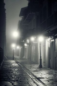 Pirate's Alley, New Orleans fog...