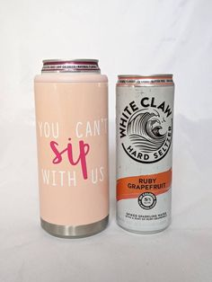 You Can't Sip With Us - Stainless Steel Skinny Can Coolers - Hard Seltzer Koozie Wine By The Glass, Secret Santa Gifts, Glass Photo, Mean Girls, Coolers, Pint Glass, Coffee Cups, Stainless Steel, Skinny