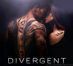 Divergent starring Theo James as Four & Shailene Woodley as Tris. The movie was pretty good, but I love this picture of them and their tattoos. Divergent Movie Poster, Watch Divergent, Divergent Fandom, Divergent Trilogy, Divergent Insurgent Allegiant, Divergent Quotes, Divergent Tattoo Tris, Divergent Series Movies, Divergent 2014