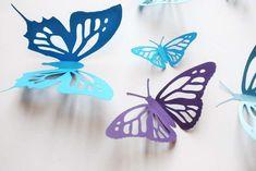 Farfalle di carta fai da te - Farfalle 3D