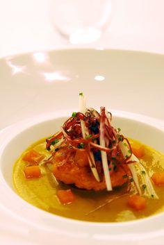 Chef Pierre Gagnaire's pumpkin and foie gras velouté. [Courtesy Photo]