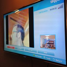 Our Klout TV has Skype! Tv, Television Set, Television